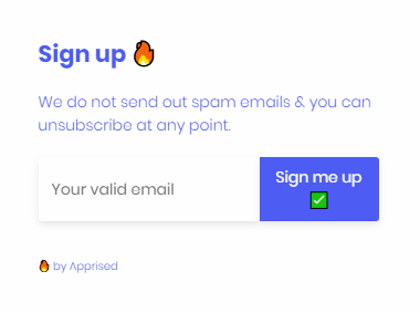 Email Optin Notification.