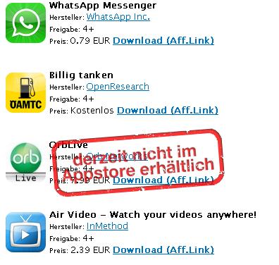 Screenshot AppStore Plugin