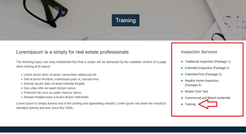 Widget display on the website.