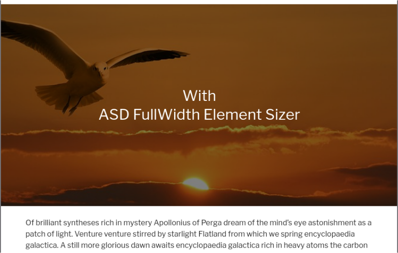 With ASD Fullwidth Element Sizer