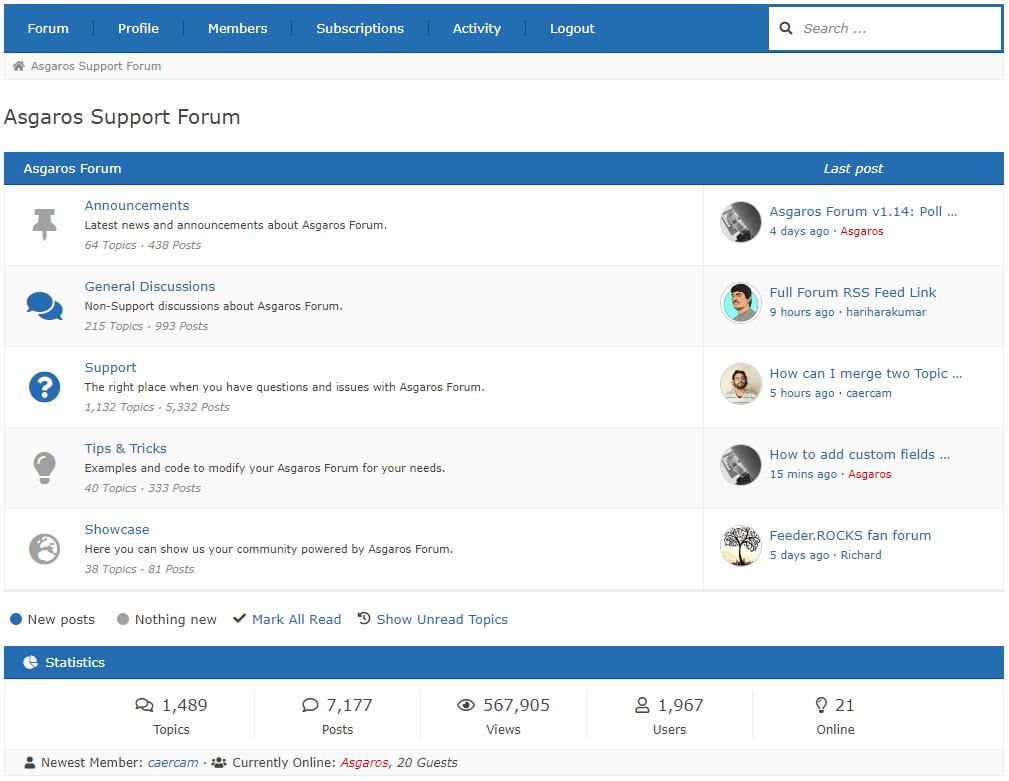 Asgaros Forum – WordPress plugin | WordPress org