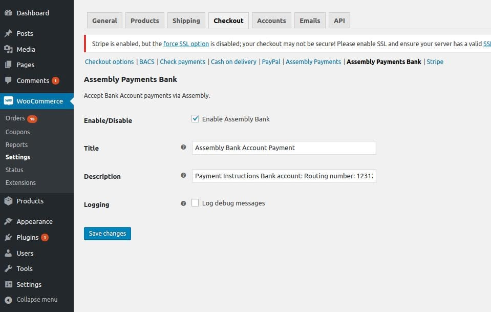 Assembly Payments for WooCommerce