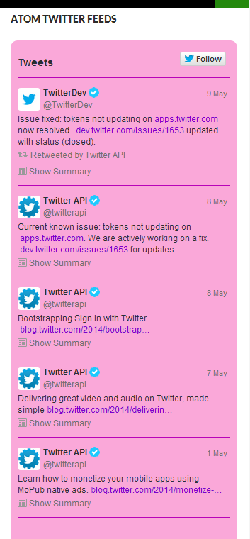 atom-twitter-feeds screenshot 1
