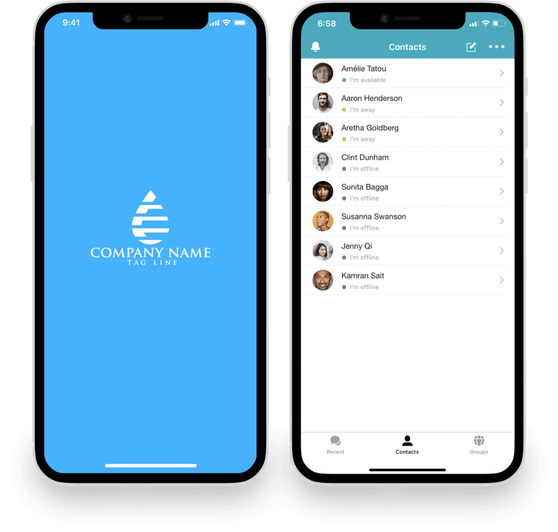 White-label Mobile Chat Apps for iOS & Android with your Branding!