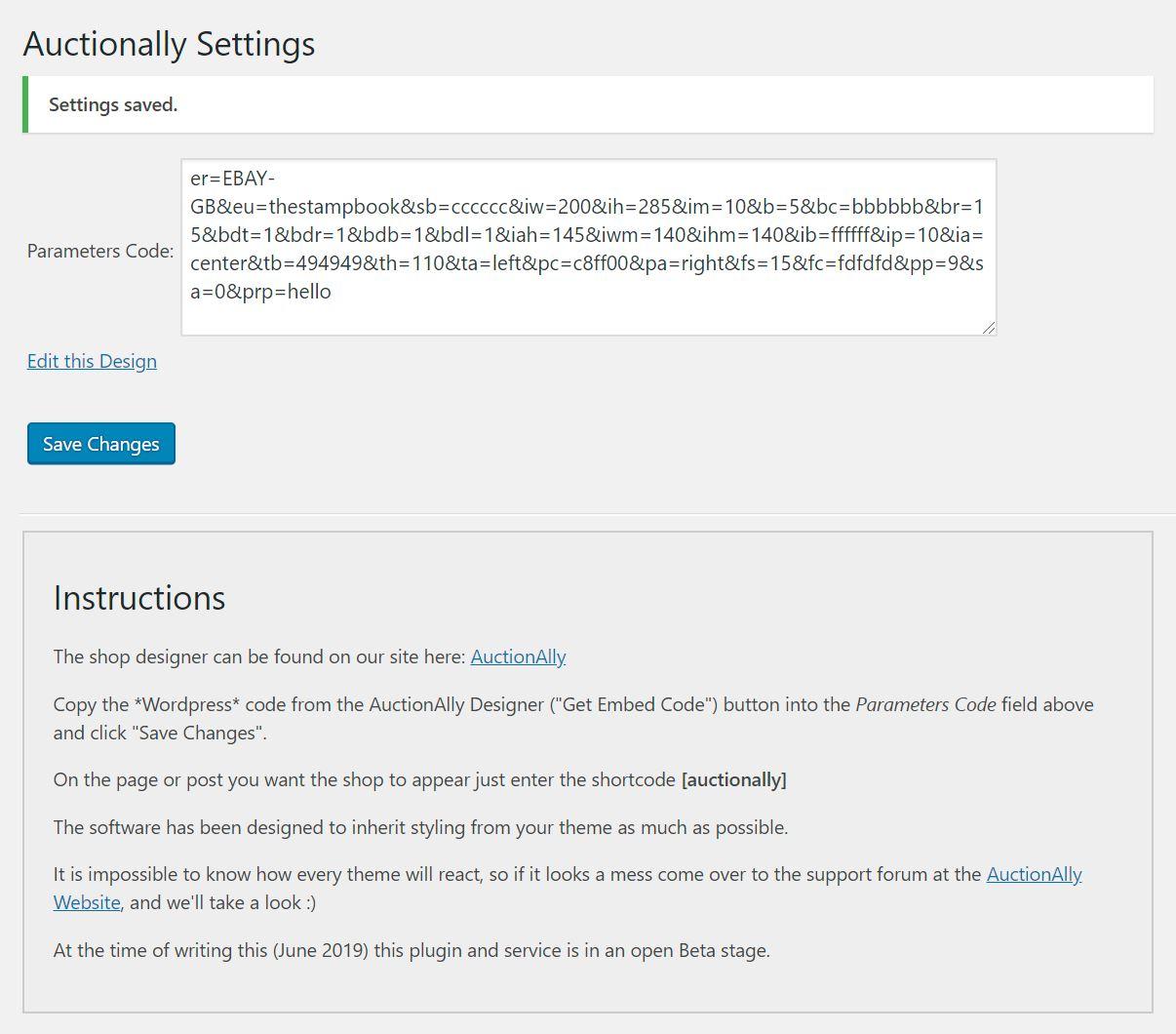 Shows the admin settings screen.