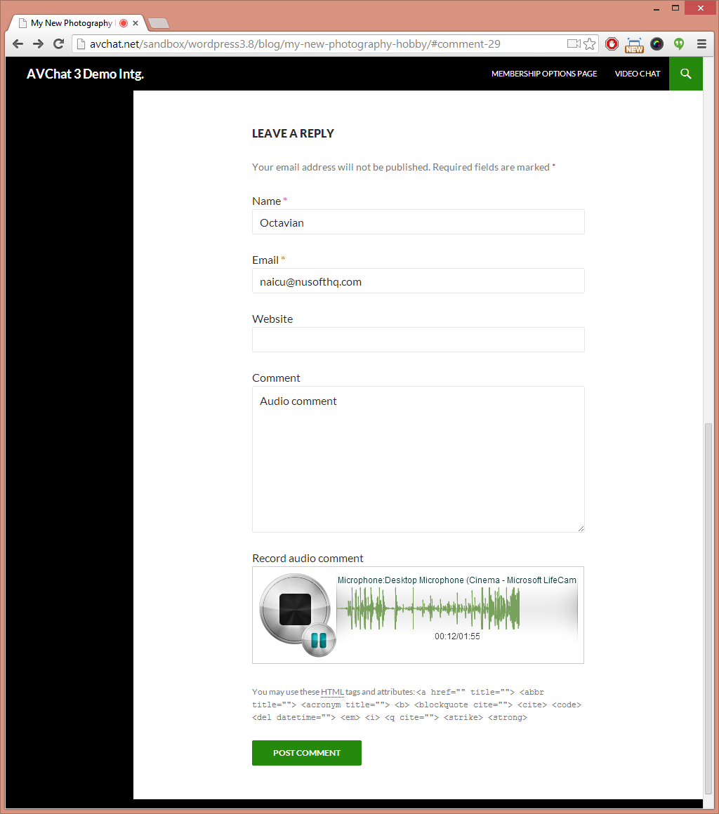 audio-comments screenshot 3