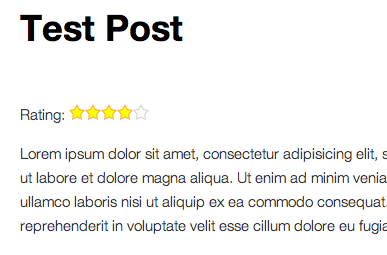 A post with an author post rating displayed in the Twenty-Eleven theme