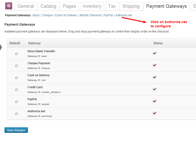 Authorize net Payment Gateway For WooCommerce – WordPress
