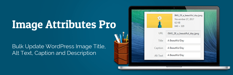 Auto Image Attributes From Filename With Bulk Updater (Add Alt Text, Image Title For Image SEO)