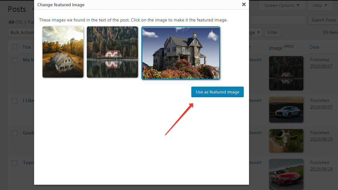 Manual Featured Images Selection