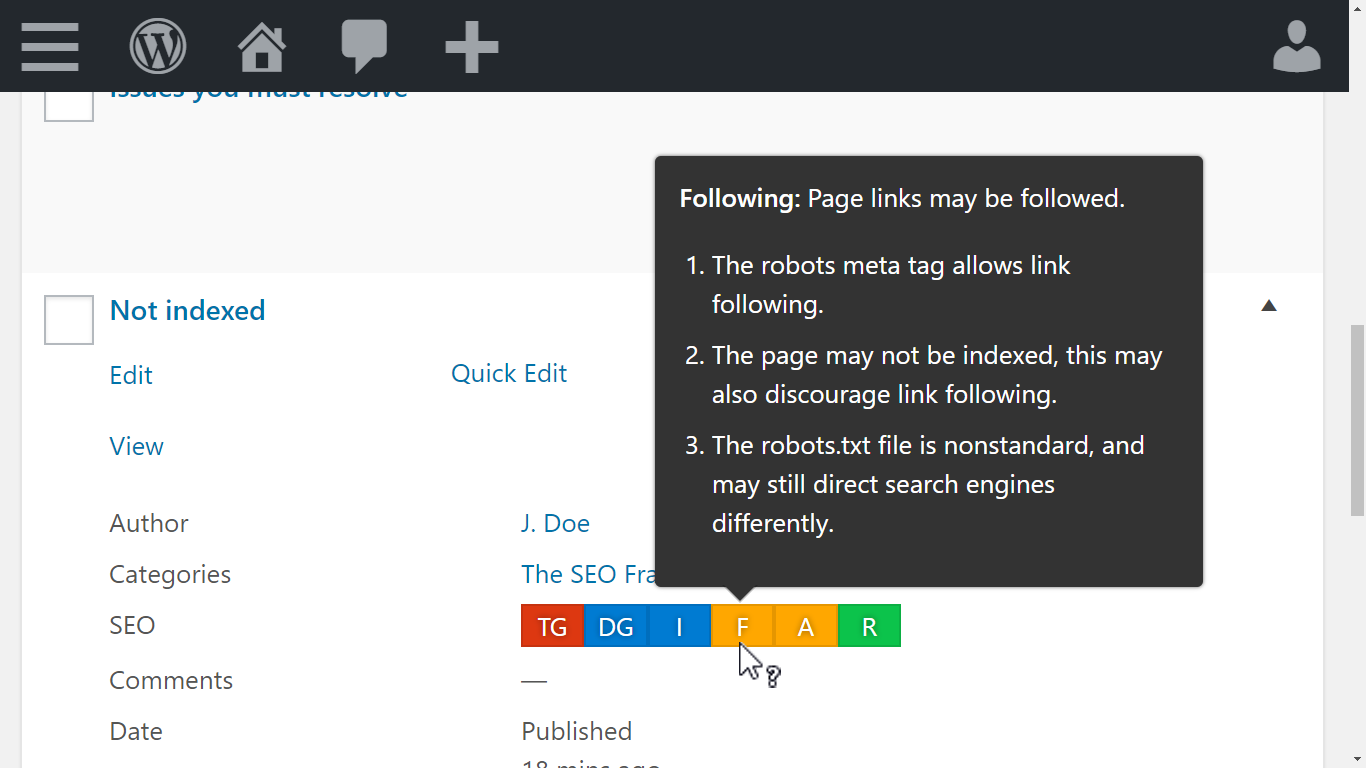 The SEO Framework Screenshot