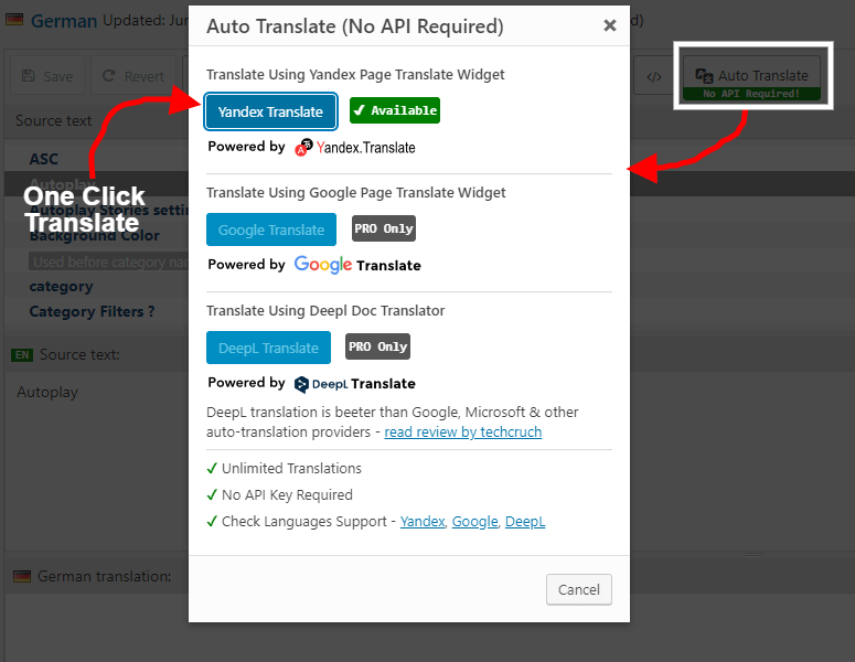 Automatic Translate (No API Required)