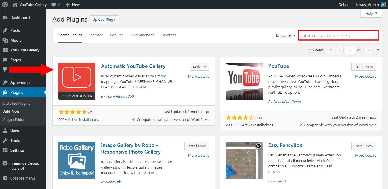 自动YouTube图库