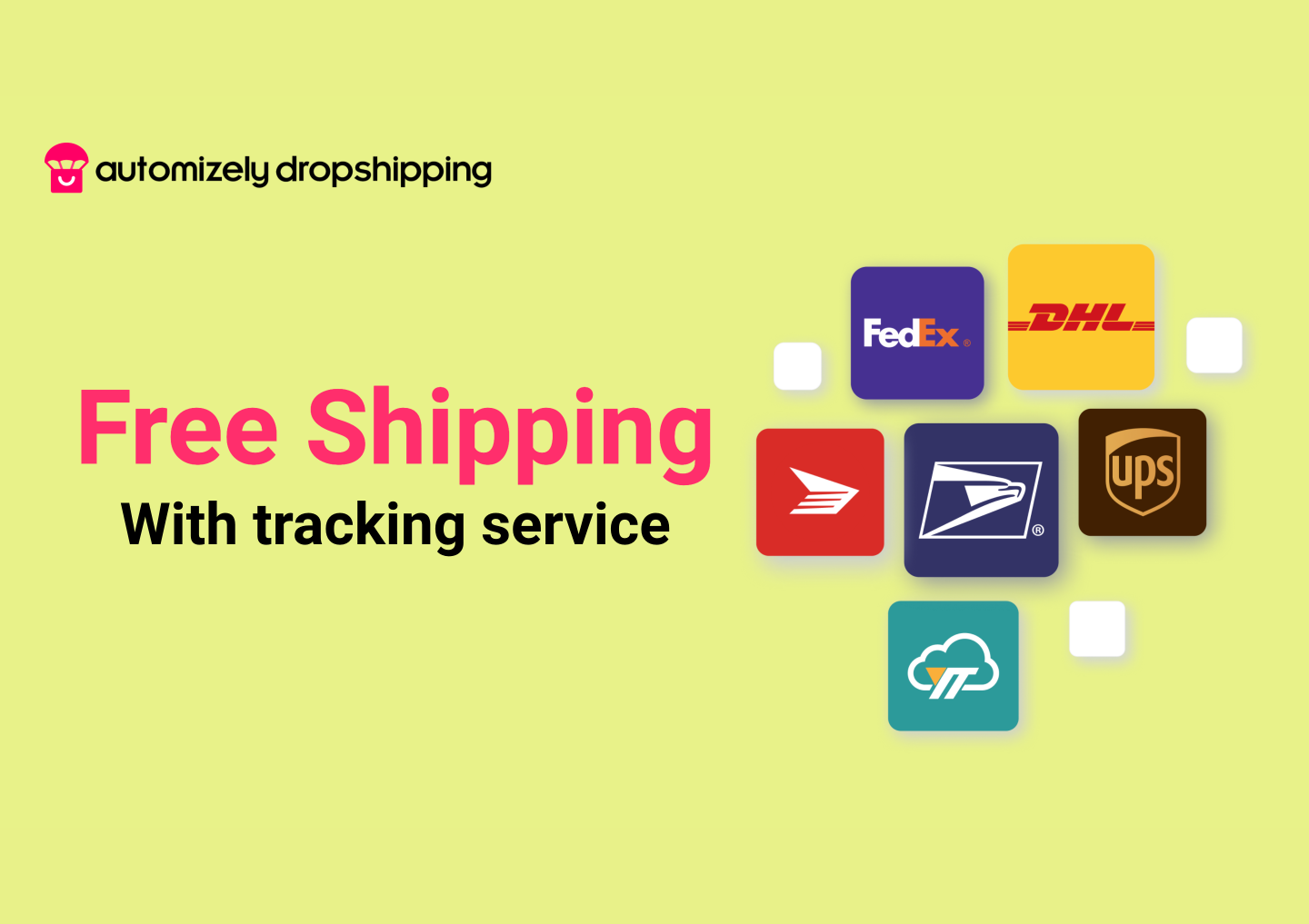 Build trust with customers with good shipping time and trackable delivery.