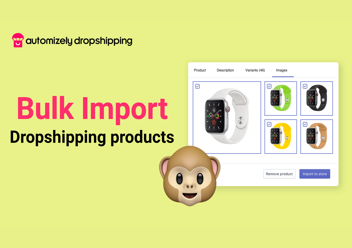 Import dropshipping products to your WooCommerce store in bulk and go live in minutes.