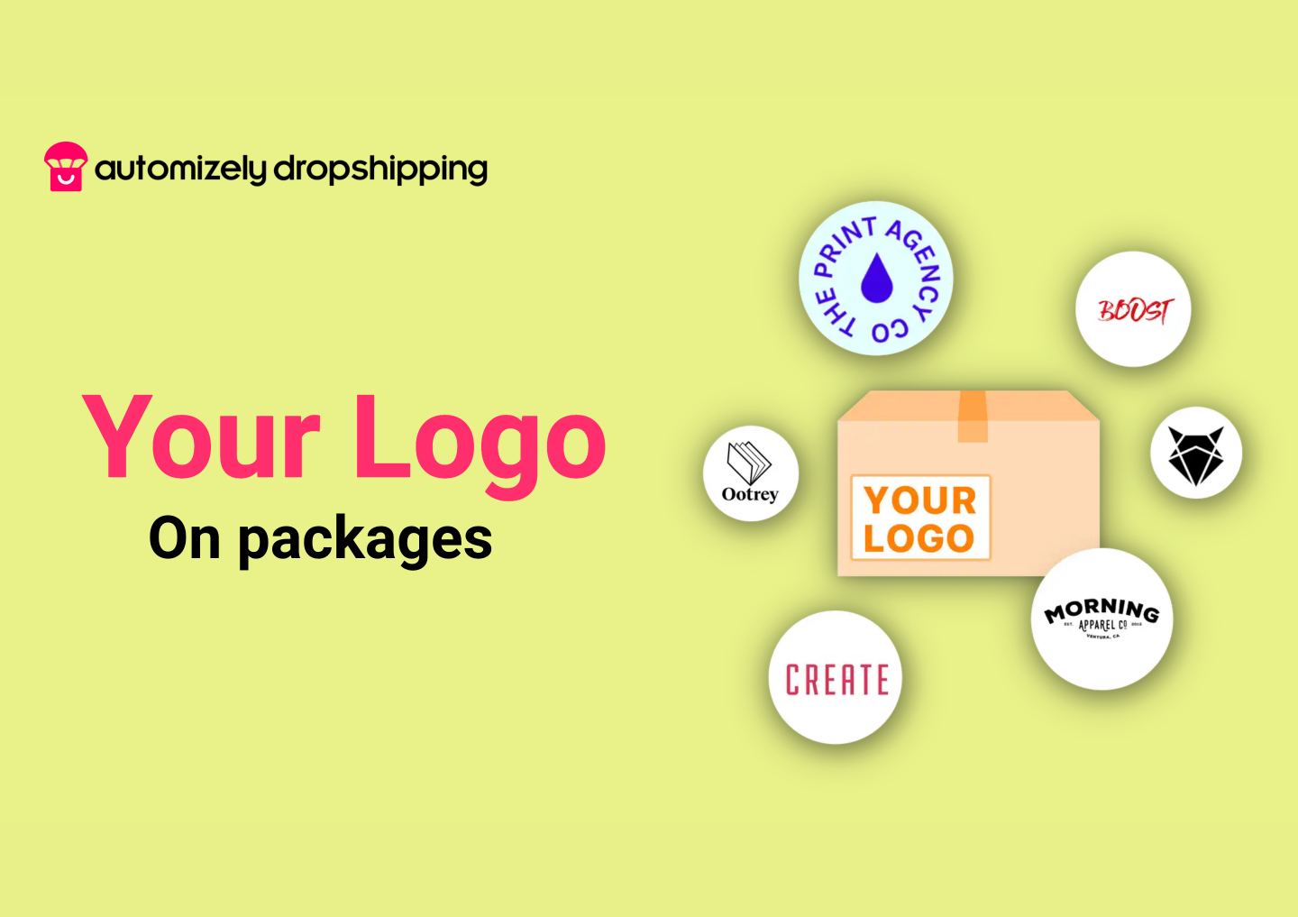 Build your brand image with your logos on order packages.