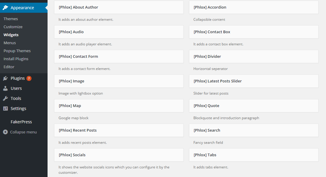 Shortcodes and extra features for Phlox theme