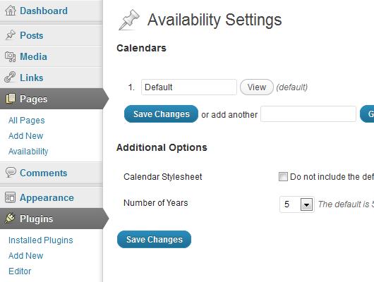 Multi-calendar management and plugin settings.