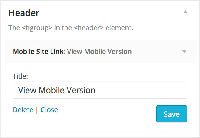 <p>An optional widget also generates a link to your mobile website. The link displays only on mobile devices.</p>