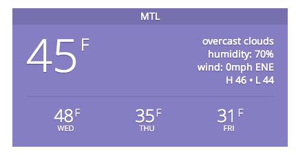 [我们的愿景]很棒的天气小工具