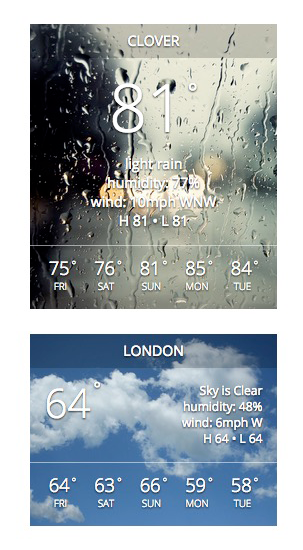 Use different background images based on weather (1.5)