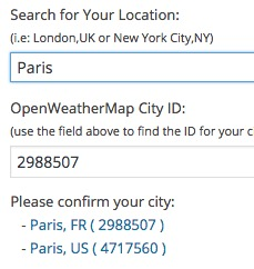 Search for the City ID directly in the widget settings (1.5)