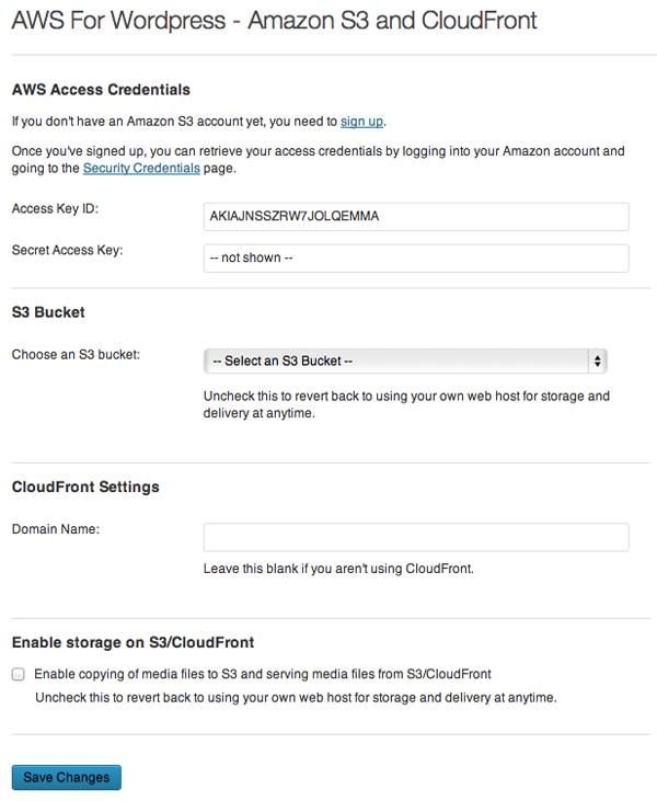 Configure Amazon S3