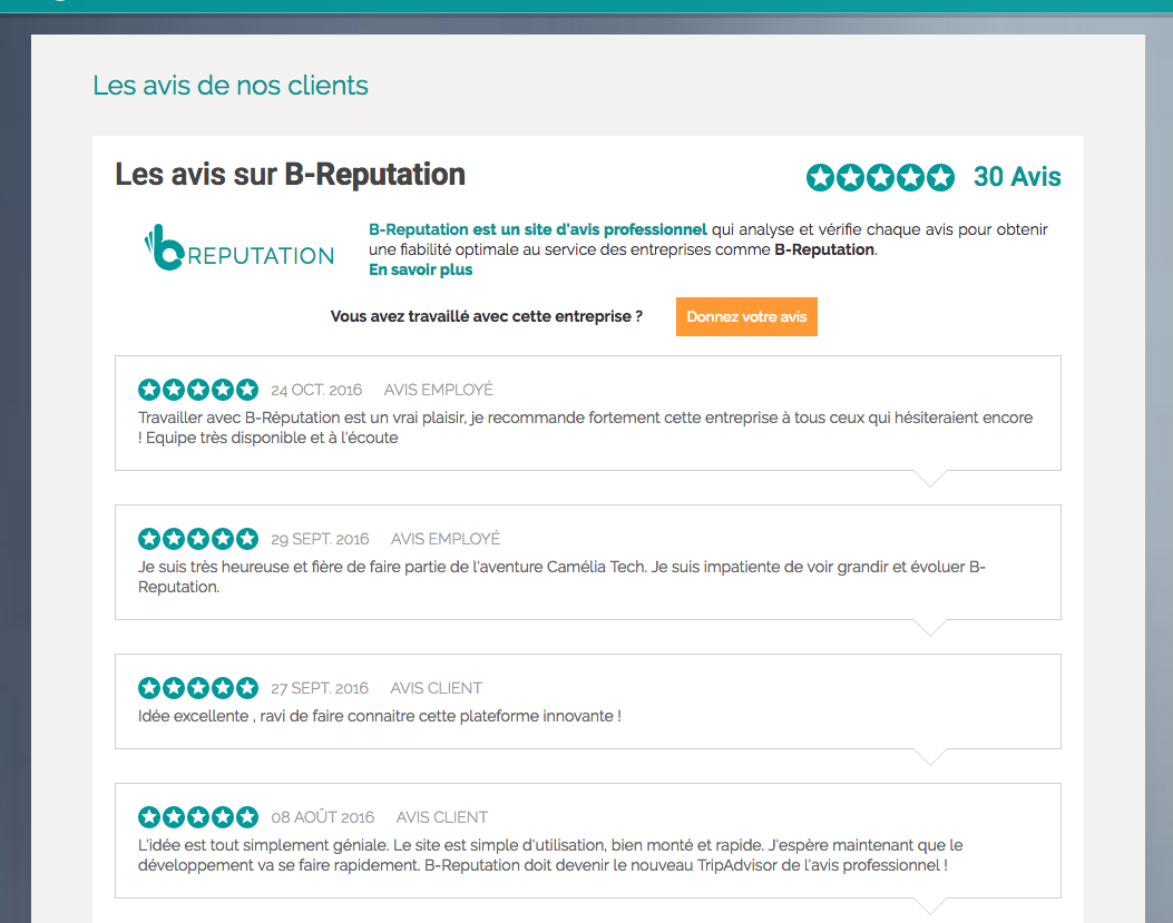 Your reviews are displayed on your website and are automatically updated when new reviews comes in.