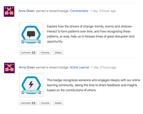 <p>Display select or all earned achievements and badges on the BuddyPress Activity Stream and User Profiles.</p>