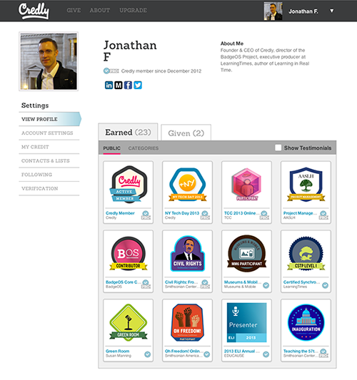 """<p>Earned badges on your BadgeOS Community site are """"Open Badges"""" that are sharable via Credly to virtually any social network, site, blog or the Mozilla Backpack.</p>"""