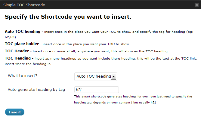 bainternet-simple-toc screenshot 2