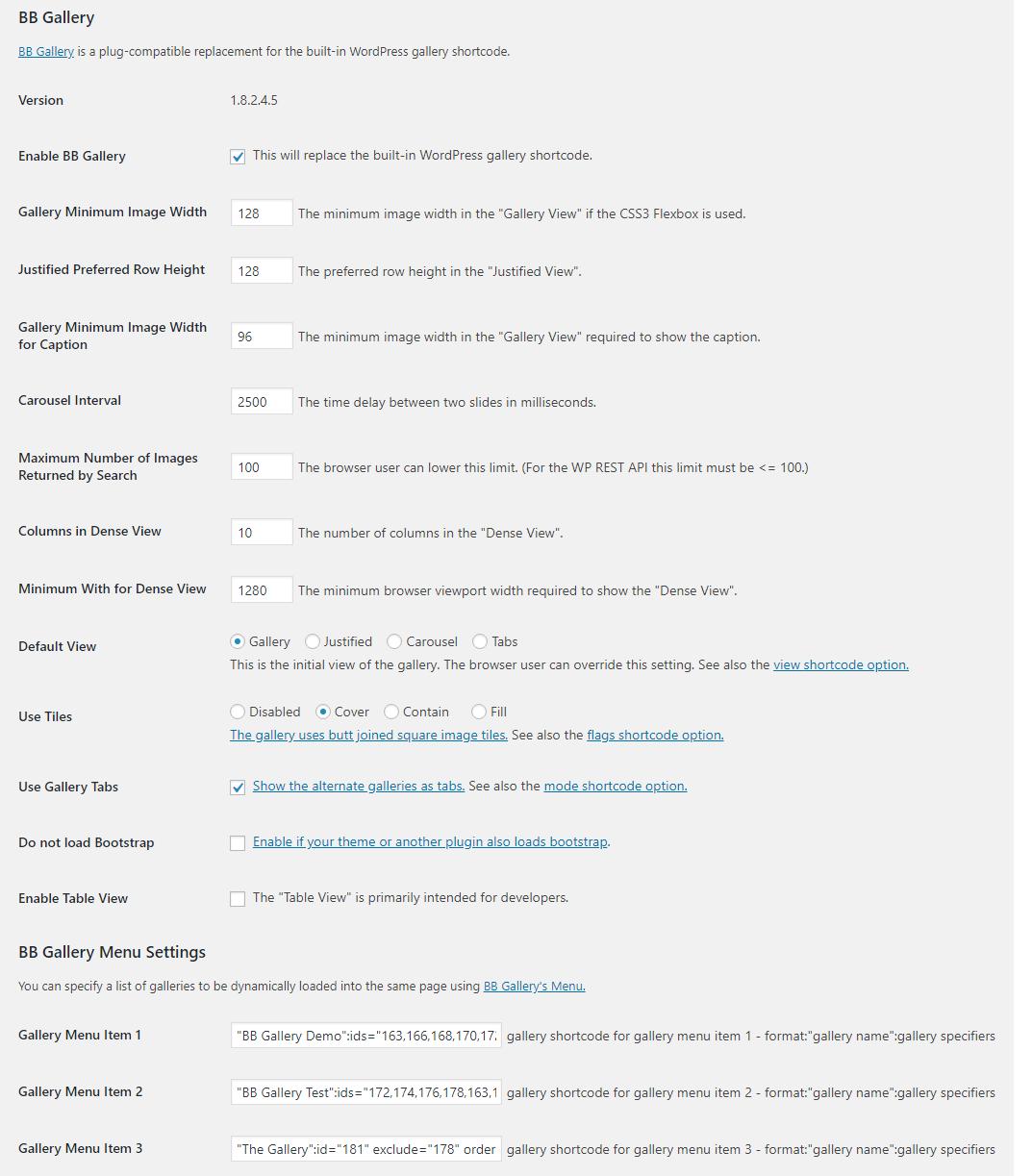 "<a href=""https://bbfgallery.wordpress.com/#installation"">Admin Settings</a>"