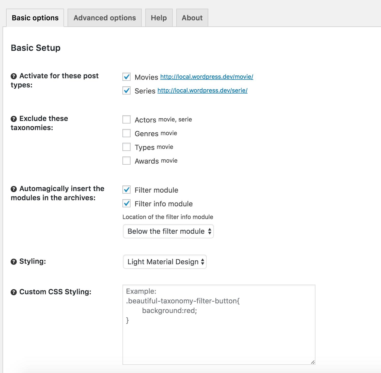Beautiful taxonomy filters – WordPress plugin | WordPress org