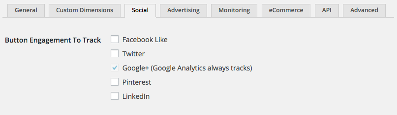 Social button engagement allows you to track things like Likes/Unlikes/Tweets/Shares right within your Google Analytics account.