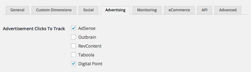 Track clicks on the ads on your site within your Google Analytics account.