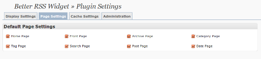 Page Settings where you can select the default pages to show the widget on.