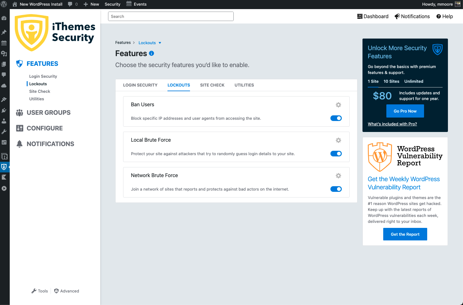iThemes Security (formerly Better WP Security) Capture d'écran