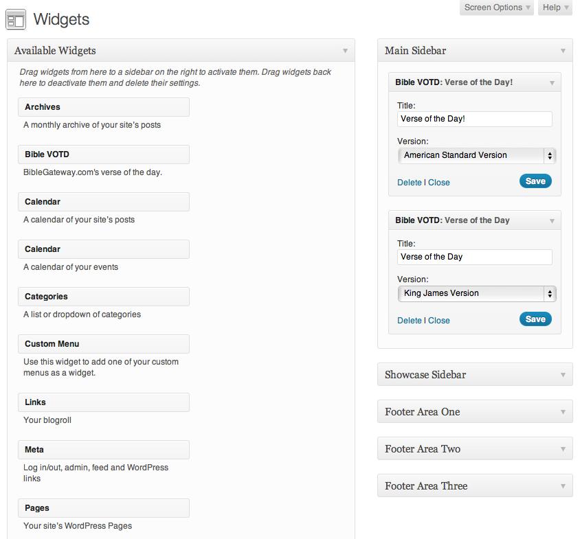 BibleGateway VOTD – WordPress plugin   WordPress org