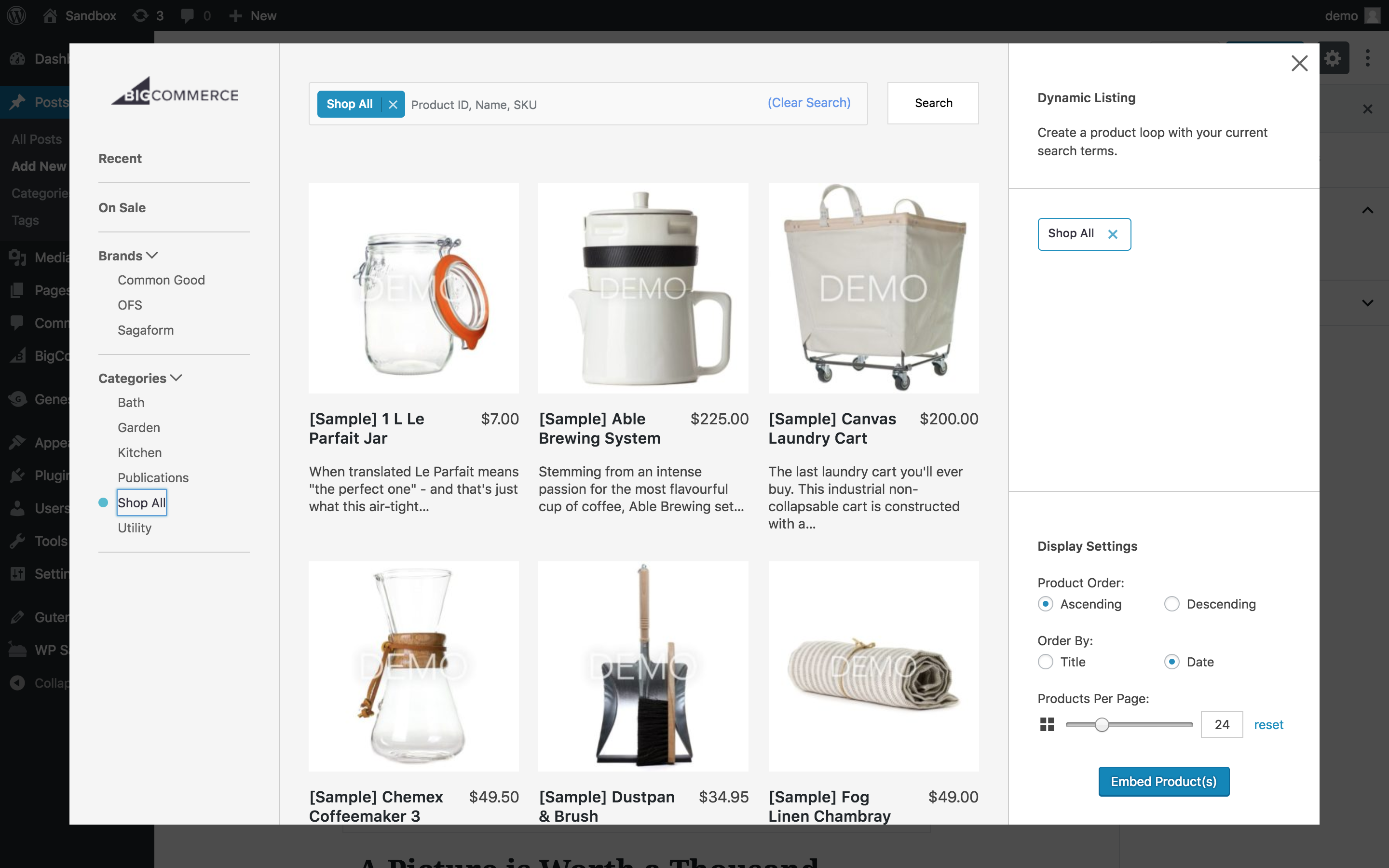 BigCommerce For WordPress – WordPress plugin | WordPress org