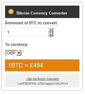 bitcoin-currency-converter screenshot 1