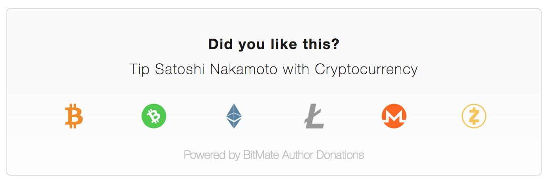 Multi-Cryptocurrency BitMate Donation Box