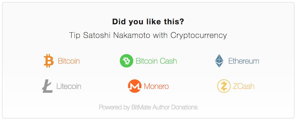 Multi-Cryptocurrency BitMate Donation Box with Names