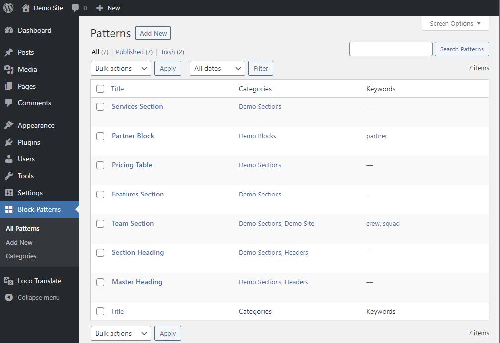 ブロックパターンの作成・管理ができるプラグイン「Block Pattern Builder」|Knowledge Base
