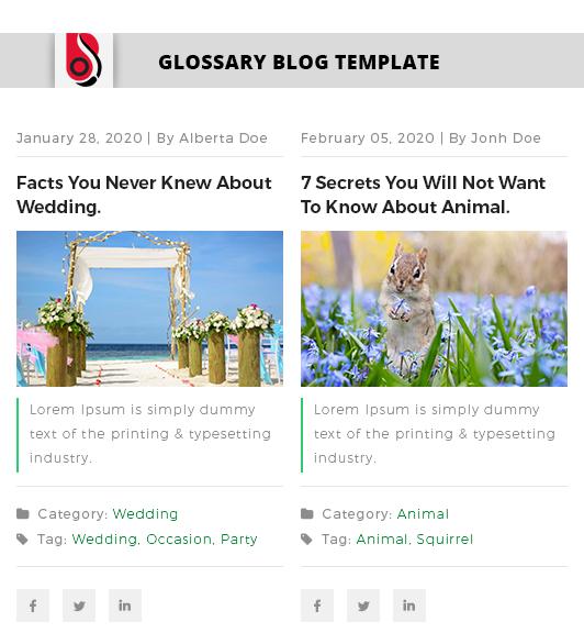 Blog Designer with 'News' Blog Template Layout