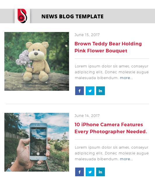 Blog Designer with 'Timeline' Blog Template Layout