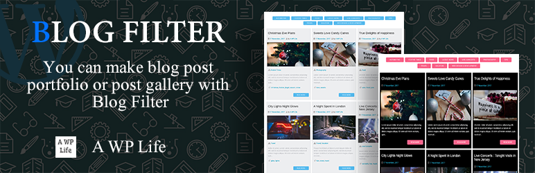 Blog Filter – Post Portfolio Gallery – WordPress plugin