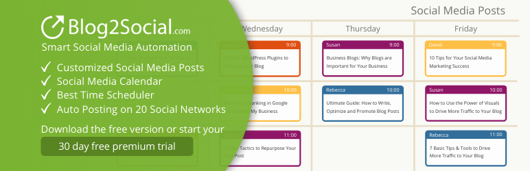Blog2Social: Social Media Auto Post & Scheduler