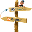 Blogger To WordPress logo