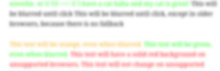 Blur Text