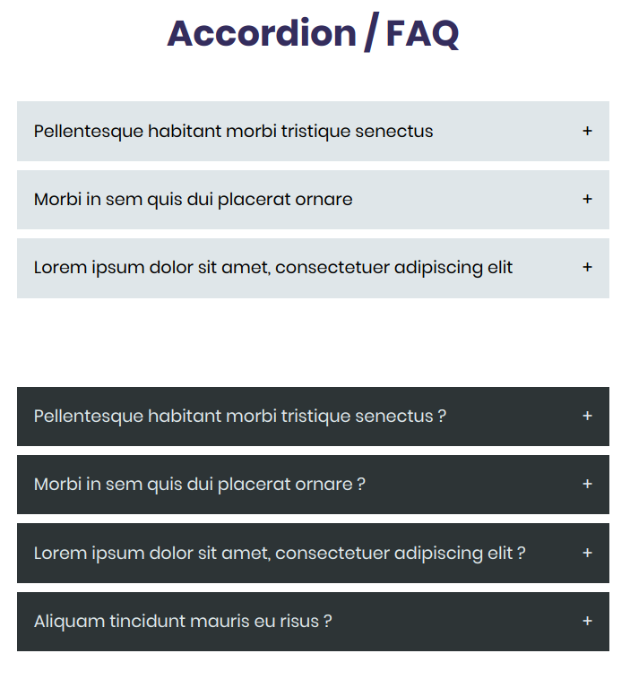 Accordion / FAQ